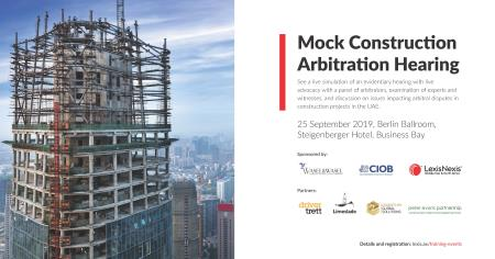 Mock Construction Arbitration Hearing