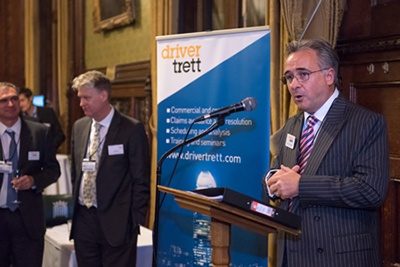 Driver Trett Houses of Parliament event Mark Wheeler speaking