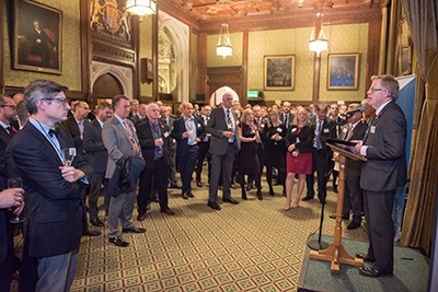 Driver Trett Houses of Parliament event Sir Rupert Jackson speaking