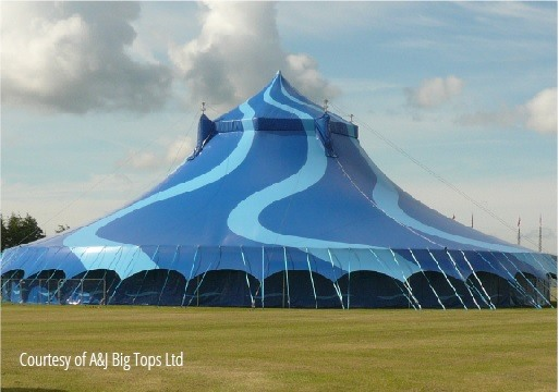 A modern circus tent & The evolution of the festival tent: flexibility and freedom but ...